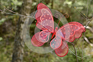 A Red Butterfly Royalty Free Stock Photography - Image: 24655417