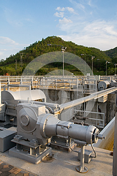 Floodgate Mechanism At Water Reservoir. Royalty Free Stock Photo - Image: 24675235