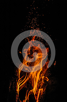 Crackling Fire Stock Images - Image: 24680444
