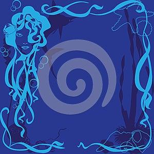 Blue Background Marine Life Stock Images - Image: 24681764