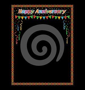 Happy Anniversary Frame Stock Photo - Image: 24689220