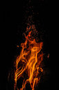Crackling Fire Stock Images