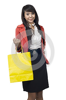 Asian Woman Shopping Royalty Free Stock Image - Image: 24691866