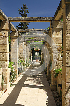 Walkway In A Tropical Garden Stock Image - Image: 24692701