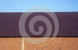 Wall, Roof And Sky. Stock Image - Image: 24694901