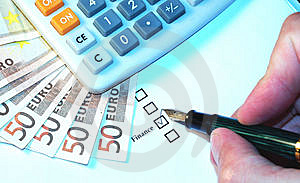 Finance checkbox Royalty Free Stock Image