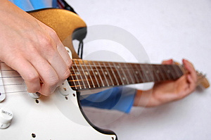 Guitar Playing Stock Image - Image: 2474591