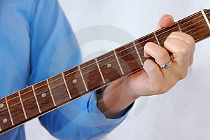 Detail Of Guitar Playing Stock Photo - Image: 2474610