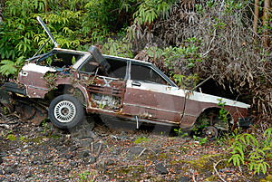 Car Wreck Royalty Free Stock Photography - Image: 2475047