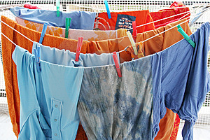 Colorful Laundry Clothes Royalty Free Stock Photo