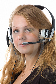 The Girl-operator Royalty Free Stock Photography - Image: 2478197