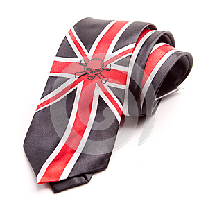 Necktie With British Flag Royalty Free Stock Images - Image: 24700259
