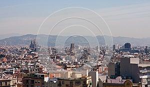 Panoramic View Of Barcelona City Stock Photos - Image: 24701003