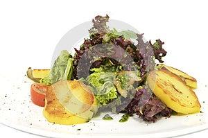 Potato Salad And Greens Stock Photos - Image: 24701503
