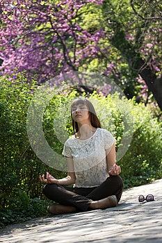 Meditating Girl Stock Photo - Image: 24711350