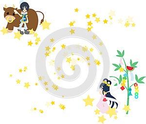 Orihime And Hikoboshi Royalty Free Stock Photos - Image: 24712088
