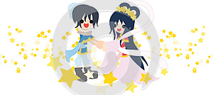 Orihime And Hikoboshi Royalty Free Stock Image - Image: 24712096