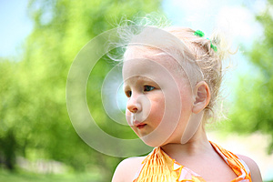 Portrait Of Blond Child Royalty Free Stock Photos - Image: 24715718