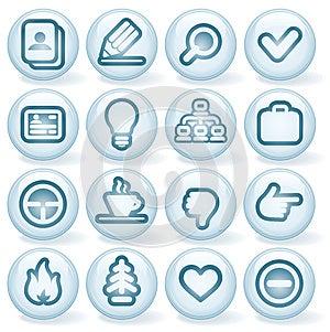 Shiny Round Icons #1 Stock Photography - Image: 24716362