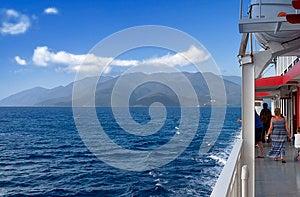 Het Kruisen Bij Het Ionische Overzees In Griekenland Stock Foto's - Afbeelding: 24719193