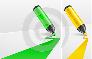 Markers And Bands Stock Photo - Image: 24728440