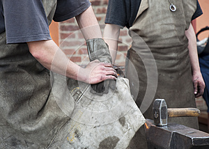 Blacksmith Working Men Royalty Free Stock Images - Image: 24729079