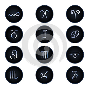 Zodiac Signs Isolated On White Stock Photos - Image: 24731803
