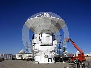 Constructing A Radio Telescope Royalty Free Stock Image - Image: 24736326