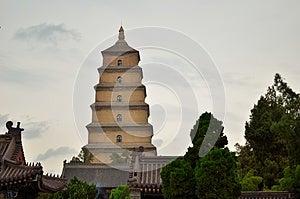 Big Wild Goose Pagoda Stock Photos - Image: 24737853