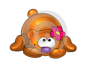 Baby Bear And Flower Stock Photos - Image: 24741623