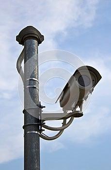 Surveillance Security Camera Or CCTV Royalty Free Stock Photo - Image: 24745625