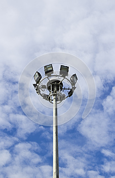 Spot-light Tower In Blue Sky Stock Images - Image: 24745674