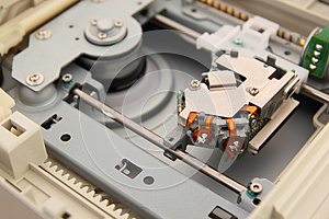 Inside Of DVD Drive Stock Image - Image: 24747061