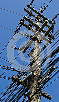 Electricity Post Stock Image - Image: 24750311