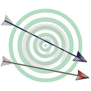 White Archery Background Royalty Free Stock Image - Image: 24757196