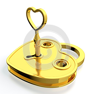 Golden Padlock Stock Image - Image: 24758961