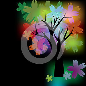 Glowing Tree Royalty Free Stock Photos - Image: 24761438