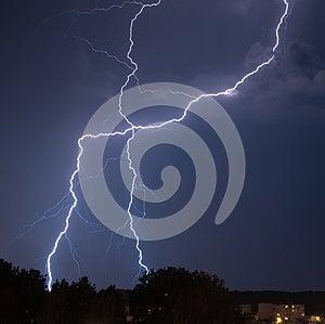 Lightning Over Castle Stock Photos - Image: 24761923
