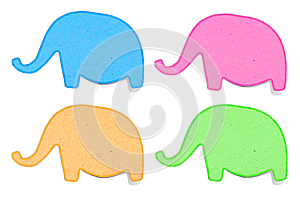 Elephant Recycled Paper Craft Stick Stock Image - Image: 24765991