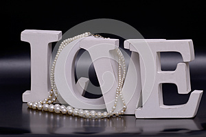 Love Letters And Pearl Necklace Royalty Free Stock Photos - Image: 24769018
