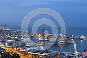 Port Of Barcelona Royalty Free Stock Photography - Image: 24777127