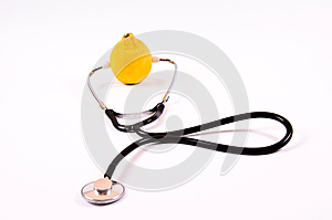Stethoscope And Lime Stock Photography - Image: 24777732