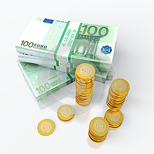 Stack Of Euro Royalty Free Stock Images - Image: 24783389