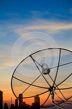 Black Antenna Satellite Dish Royalty Free Stock Image - Image: 24788456
