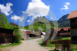 Village In Mountains Royalty Free Stock Photo - Image: 24791335