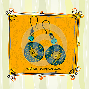 Illustrated Earrings Stock Photo - Image: 24796480