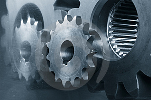 Gear maxhinery close-ups Royalty Free Stock Photography