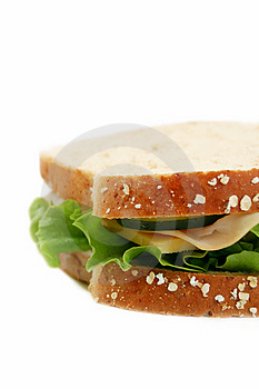 Side of a Sandwich Royalty Free Stock Images