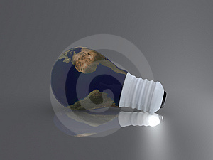Bulb world Stock Image