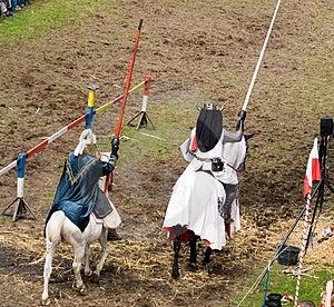 Durante la battaglia dei cavalieri Immagine Stock